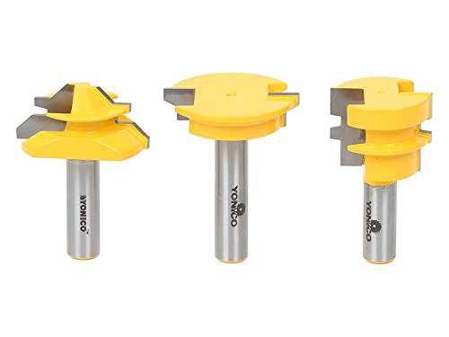 Yonico Router Bits Set Joinery 3 Bit 1/2-Inch Shank 15336