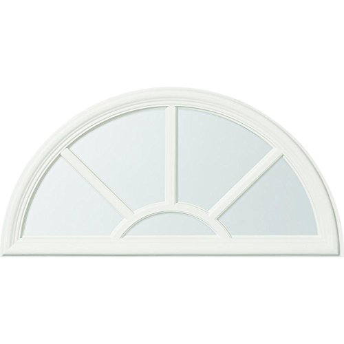 ODL Sunburst Style Design - Front Door Glass Replacement - Entry Door Insert Kit with Clear Tempered Glass - 5 Light External Grille - 23.8
