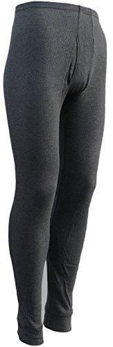 sockenhimmel 2 Lange Thermo- Funktions- Unterhosen für Herren - Sport- und Arbeits-Unterhosen mit Eingriff (6/L, dunkelgrau)