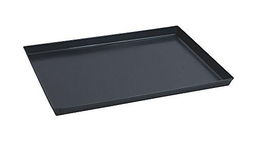 Paderno 41745-40 Teglia Rettangolare in ferro blu – Stampo da forno antiaderente, bordi alti, utilizzabile come vassoio, 40 x 30 cm, Altezza 3 cm