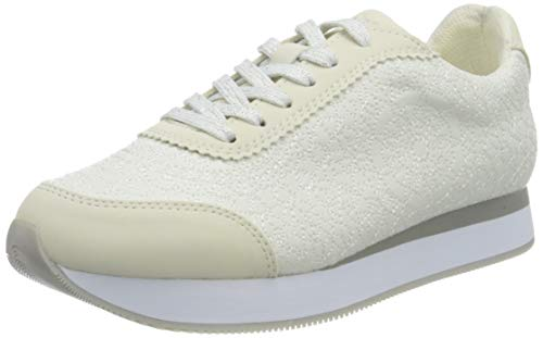 Desigual Damen Shoes_Galaxy_Mandala Sneaker, White, 39 EU