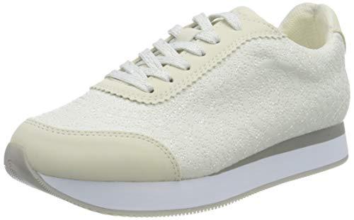 Desigual Shoes_Galaxy_Mandala, Zapatillas para Mujer, Blanco, 38 EU