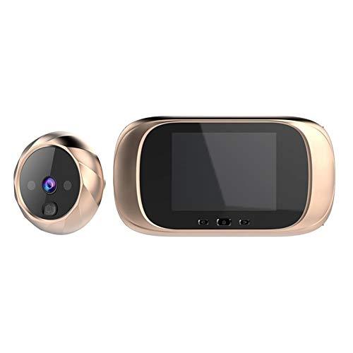 xfyx Timbre con videoportero, Pantalla LCD de 2.8', Timbre con Video Digital de Alta definición, Seguridad Inteligente con detección de Infrarrojos, visión Nocturna, para Seguridad en el hogar