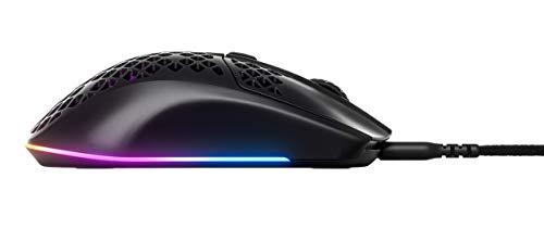 SteelSeries Aerox 3 – Superleichte Gaming-Maus – Optischer TrueMove Core Sensor mit 8.500 CPI– Ultraleichtes, wasserfestes Design – Schwarz - 7