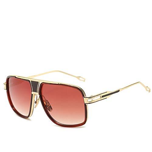 Gafas de Sol Sunglasses Gafas De Sol Clásicas De Gran Tamaño para Hombre, Gafas De Sol Cuadradas Retro Vintage De Diseñador De Lujo para Hombre, Espejo Uv400 C3