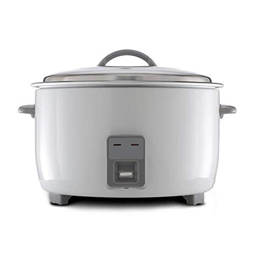 Kommerzielle Reiskocher, isolierte Reiskocher und Dampfgarer, Aluminiumlegierung Antihaftbelag, ein Schlüsselbetrieb, Hotelrestaurantküche Kantine Kochtopf 10L -26L ( Color : White , Size : 10L )