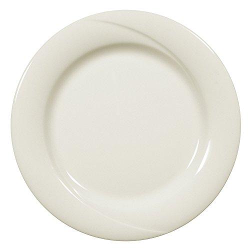 Seltmann Weiden 001.045030 Orlando - Frühstücksteller/Kuchenteller/Dessertteller - Ø 21 cm - Fahne - Porzellan - Cream/Elfenbein