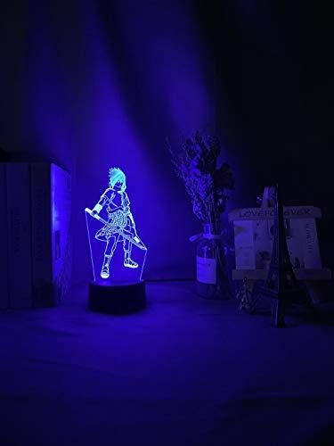 Lámpara de noche 3D con luz nocturna LED 3D, cambio de color, luz nocturna para niños, dormitorio, decoración, sensor táctil, lámpara de mesa