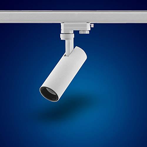 Mextronic 3-Phasen-Strahler für Stromschienen: 15W, Ø 62mm (Warmweiß) [Energieeffizienzklasse A+]