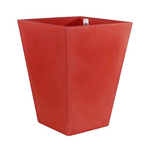Vondom kegel vierkant hoog vaas 35 x 35 h 100 cm rood