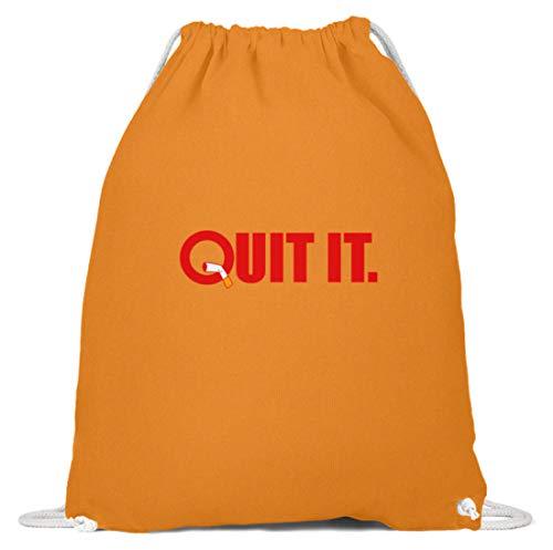 Schuhboutique Doris Finke UG (haftungsbeschränkt) Quit it - quit smoking - non-smokers - Baumwoll Gymsac -37cm-46cm-Orange
