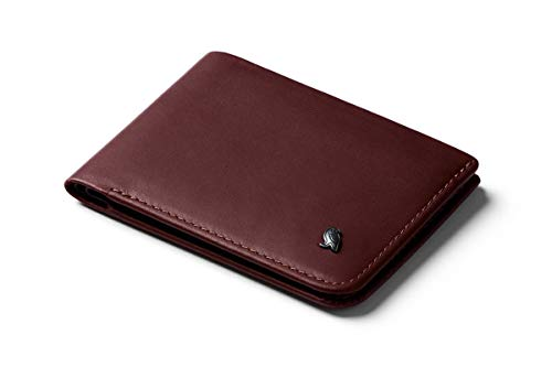 Bellroy Hide & Seek, slim leather wallet, RFID editions available (Max. 12 cards and cash) - Wine - RFID