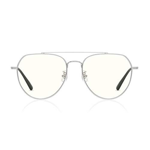 YANJING Gafas de Ordenador con Filtro de luz Azul, Gafas de Sol Estilo piloto de protección UV para Mujeres/Hombres