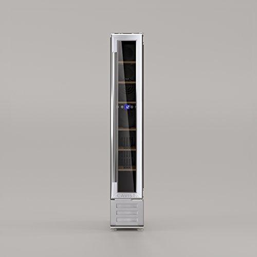 WineCellar Wijnkoelkast, 7 flessen, serveerflessen, 22 l, inbouwbaar, roestvrij staal, elektrisch, multitemtemperatuur, 5 °C tot 22 °C, stil, glazen deur, UV-bescherming