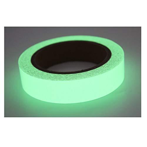 Blupure Glow in The Dark Cinta Luminosa Cinta autoadhesiva -2.5cmx9.144m - Cinta de Seguridad Fluorescente, Extraíble a Prueba de Agua Estable Rollo de Emergencia Fluorescente