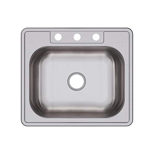 Dayton DSE125223 Single Bowl Top Mount Stainless Steel Sink