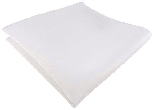 TigerTie Satin Einstecktuch in weiss einfarbig Uni - Tuch Polyester - Größe 26 x 26 cm