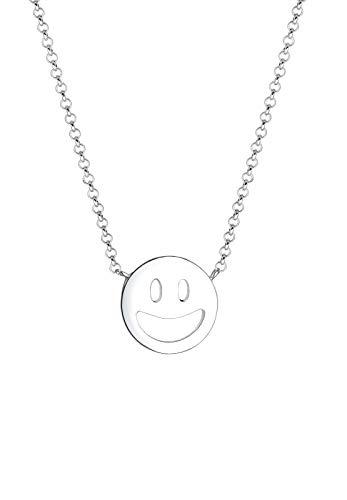 Elli Halskette Smiley Face Emoji Happy 925 Sterling Silber