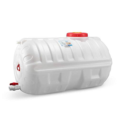 QIN.J.FANG-MY High Capacity 140L Round Water Tank Thick Food Grade Horizontal Water Tank Home Bath Water Tank Outdoor Car Water Storage Container