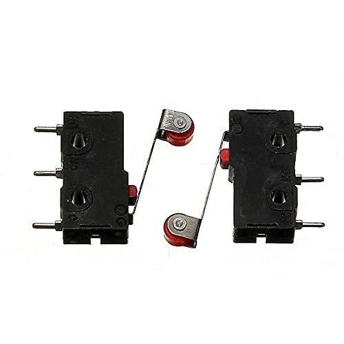 Módulo electrónico Final de carrera de Micro KW12-3 Con rodillo Palanca de apertura/cierre del interruptor 5A 125V 50Pcs Equipo electrónico de alta precisión
