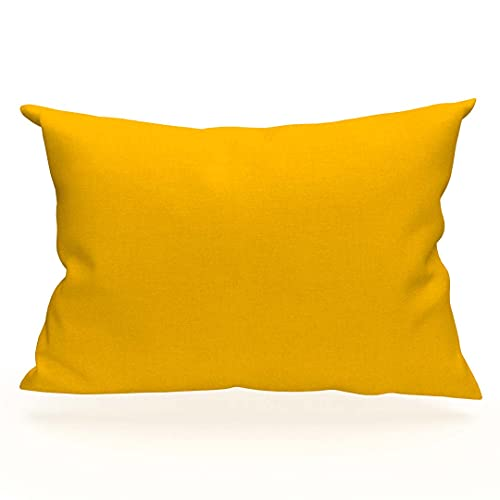 Funda de Almohada Americana Lisa de algodón 50x70 cm Amarilla Soleil D'OCRE