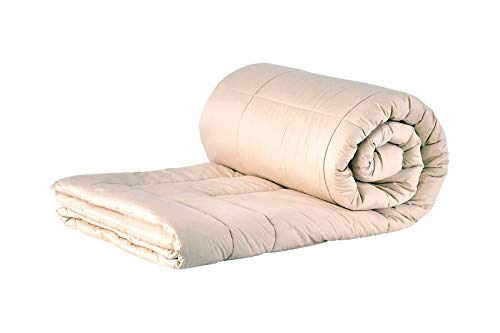 Sleep & Beyond 66 by 86-Inch Organic Merino Wool Comforter, Twin, Ivory