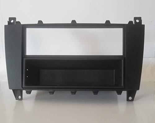 Mascherina telaio Adattatore autoradio stereo 2 doppio iso 1 din compatibile per Mercedes classe c W203 20032007 + cassetto MS243