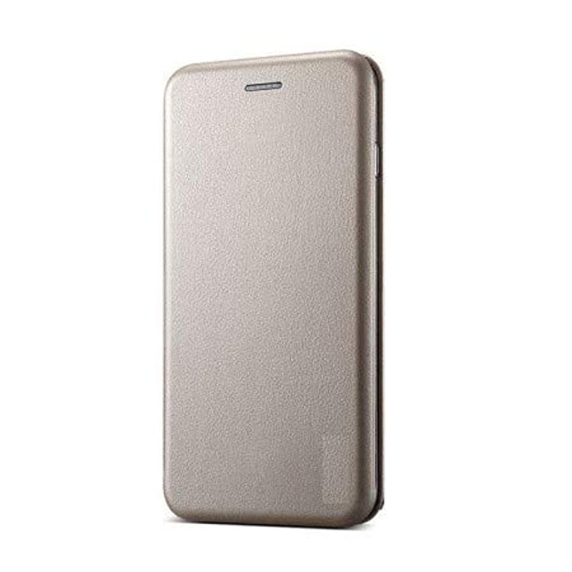 Teleplus for LG Q6 Wallet Case with Magnet Stand Gold + Nano Screen Protector