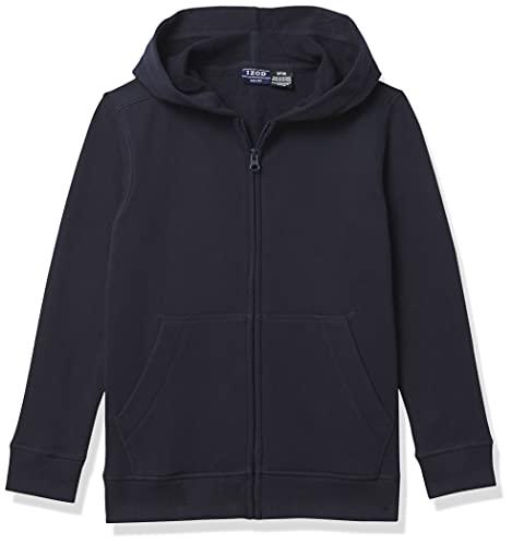 IZOD Boys' Fleece Zip-Up Hoodie Sweatshirt, Navy, 8