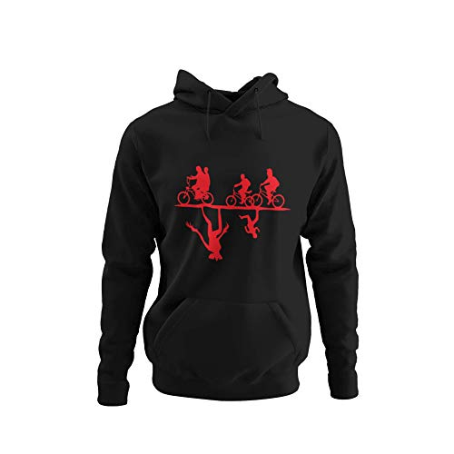 BlackSweatshirt Stranger Thing Upside Down Sweat à Capuche S STR17