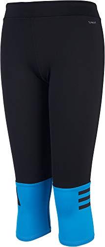 adidas Mädchen Capris, Black/Shock Cyan, Large