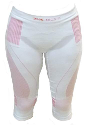 X-Bionic Lady Pantalon d'hiver Ultra Chaud pour Femme, Blanc/Rose, S/M