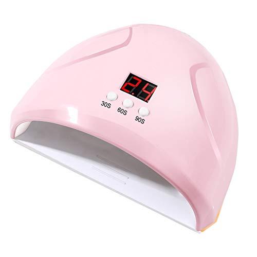 Winwintom 36W lámpara de fototerapia de uñas LED secador de uñas recargable gel pulido curado luz herramienta de manicura de uñas (Rosa)