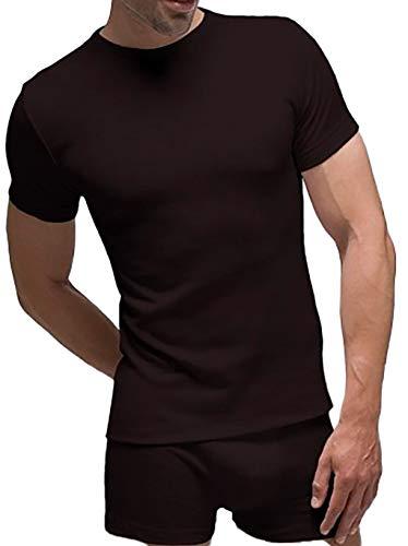 Pack 2 - Camiseta interior manga corta térmica hombre Rapife (M, Negro)