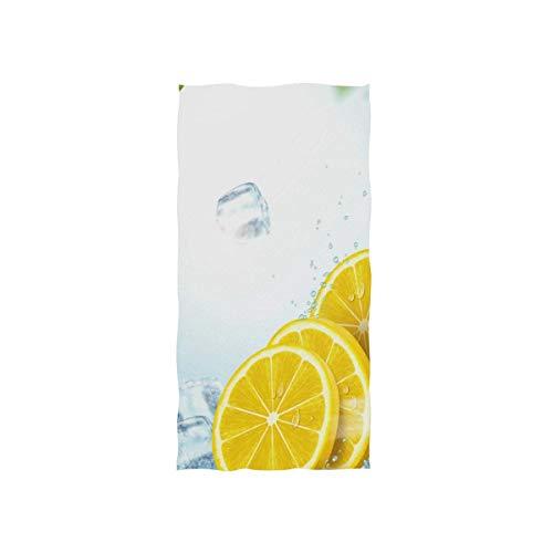 Bert-Collins Towel Toalla de Playa de Hielo de Fruta de limón Toallas de Lujo Ultra Suaves para baño 80x130cm