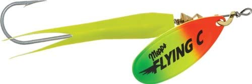 5 PACK 15g FLYING C LURES SILVER GOLD COOPER BLADE SPINNER SALMON FLC02
