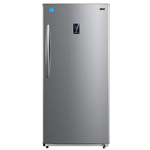 Whynter UDF-139SS 13.8 cu.ft. Energy Star Digital Upright Convertible Deep Stainless Steel Freezer/Refrigerator, cu. ft