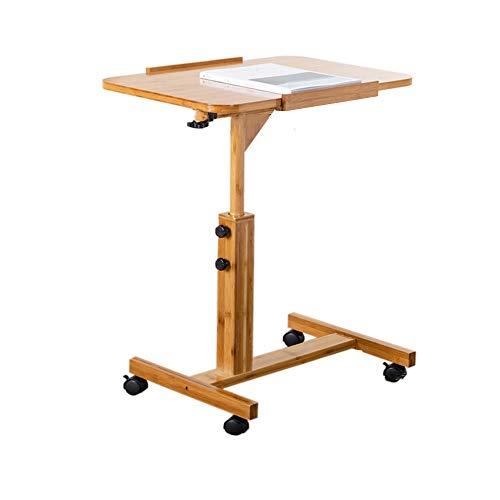 HANSHAN Küchentische Höhenverstellbarer Laptop-Schreibtisch for Wohnzimmer, Sofatisch/Computertisch/Multifunktionsschreibtisch/Nachttisch oder Schreibtisch (60 x 40 x 62 cm, 70 x 50 x 62 cm) Tab