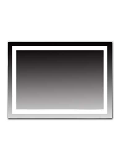 Dr. Fleischmann LED Badezimmerspiegel Lichtspiegel Wandspiegel Kaltweiß 80x60cm