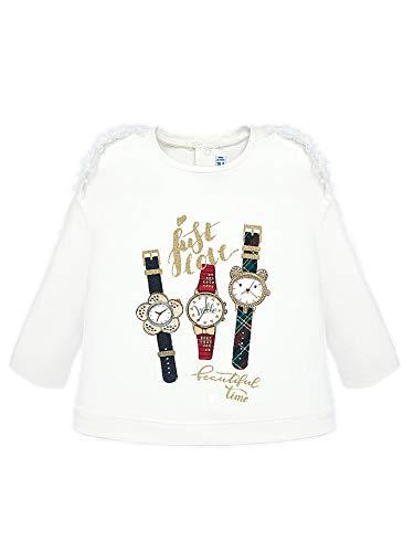 Mayoral 19-02013-093 - Langarmshirt Uhren für Baby - Mädchen 24 Monate (92cm) Roh