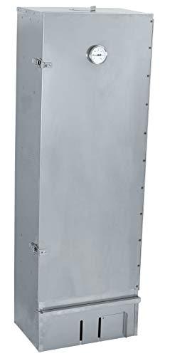 XXL Edelstahl Räucherofen / Räucherschrank mit 120cm Höhe + Thermometer + viel Zubehör