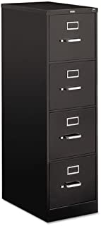 510 Series Four-Drawer, Full-Suspension File, Letter, 52h x25d, Black, Sold as 1 Each