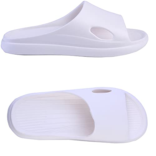 R-ISLAND Ciabatte Donna Estive Scarpe da Spiaggia Piscina Bagno Doccia Pantofole Sandali a Punta Aperta Taglia 36 – 41 (X21434 Bianco, numeric_38-39)