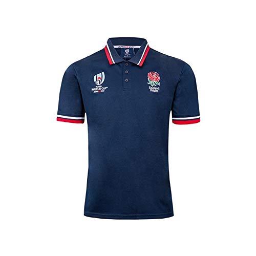 DZHTSWD Rugby Jersey, Training Shirts 2019 Nationalmannschaft Rugby-Weltmeisterschaft England, Outdoor-Freizeit-T-Shirts for Männer und Frauen (Color : Blue, Size : XXXL)