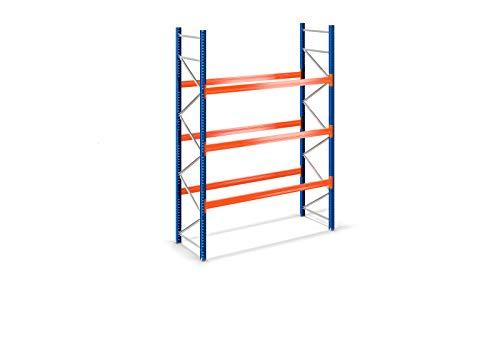 Palettenregal Schwerlastregal Industrieregal Hochregal ohne Böden mit versch. Größen (B280 x H250 X T110cm, Ebenen: 3)
