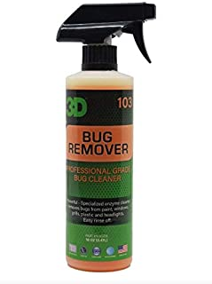 3D Auto Detailing Products Bug Remover | Enzyme Based Cleaner | Concentrated Degreaser | Removes Insects & Bugs | Works on Plastic, Rubber, Metal, Chrome, Aluminum, Windows & Mirrors (16 oz.)