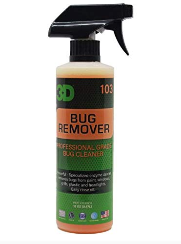 3D Auto Detailing Products Bug Remover | Enzyme Based Cleaner | Concentrated Degreaser | Removes Insects & Bugs | Works on Plastic, Rubber, Metal, Chrome, Aluminum, Windows & Mirrors (16 oz.) Product