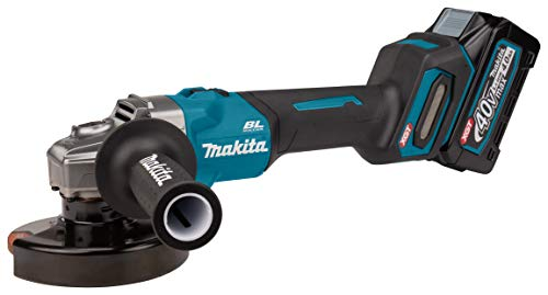 Makita GA008GM201 Amoladora Angular 40 V máx. 4 Ah, 2 baterías y Cargador en MAKPAC
