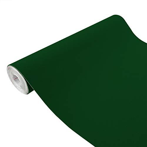Askol DecoMeister Klebefolien in Velour-Optik Velourfolie Deko-Folien Velourdekor Selbstklebefolie Möbelfolie Selbstklebend 45x100 cm Velours billardgrün - Grün