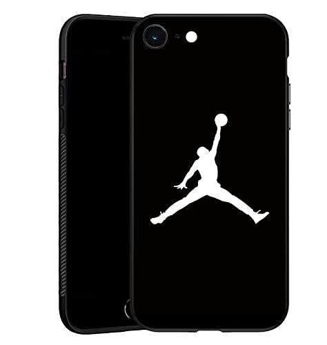 AJ - Cover con logo AJ per iPhone SE (2020), per iPhone 7/8, colore: Nero